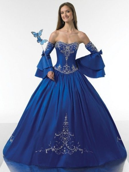 Blue And White Ball Gowns tubes femmes en...